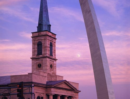 Moonrise, the Arch and the Old Cathedral
