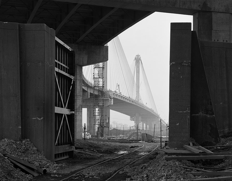/product//construction-of-the-clark-bridge-dawn-fog-alton-illinois-1993/