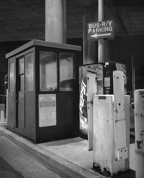 /product//parking-kiosk-under-the-poplar-street-bridge-night-1991/