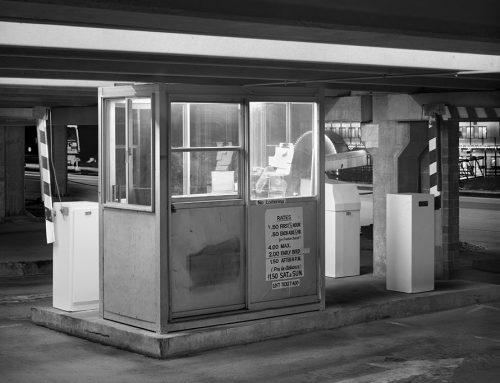 Parking Garage Booth, Riverboat, Night, Laclede's Landing, 1982
